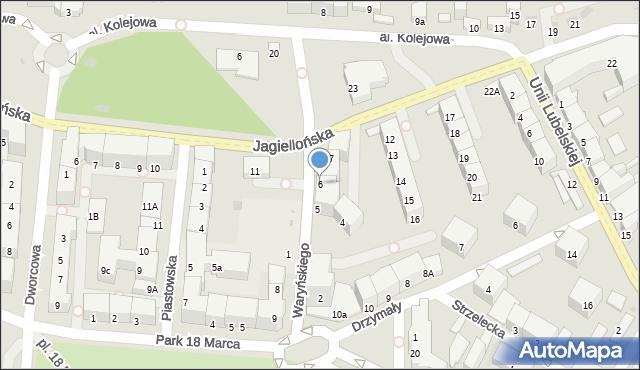 Kołobrzeg, Waryńskiego Ludwika, 6, mapa Kołobrzegu