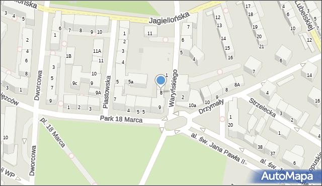 Kołobrzeg, Waryńskiego Ludwika, 8, mapa Kołobrzegu