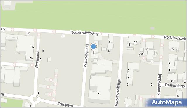 Kołobrzeg, Waszyngtona Jerzego, 1, mapa Kołobrzegu