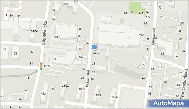 Łódź, Wawelska, 25, mapa Łodzi