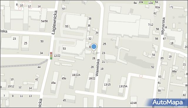 Łódź, Wawelska, 30, mapa Łodzi
