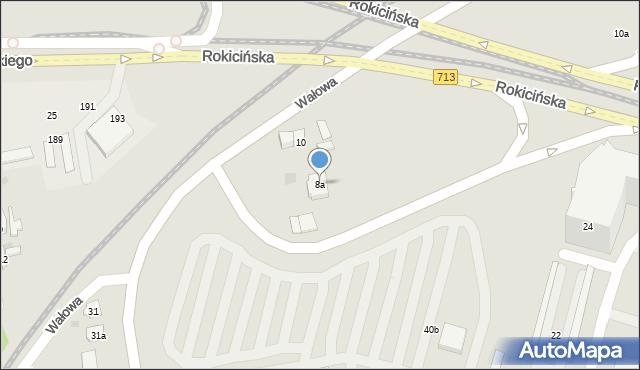 Łódź, Wałowa, 8a, mapa Łodzi