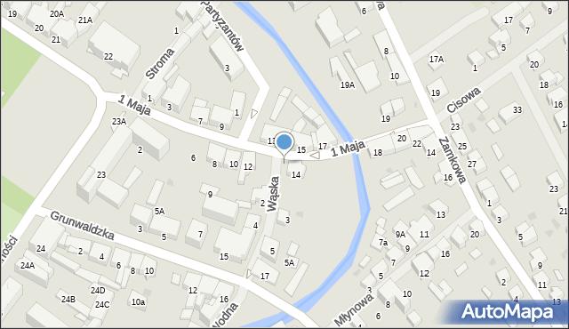 Olecko, Wąska, 1, mapa Olecko