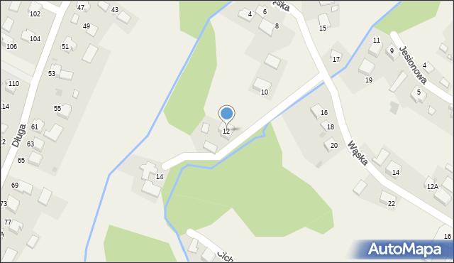Przeciszów, Wąska, 12, mapa Przeciszów