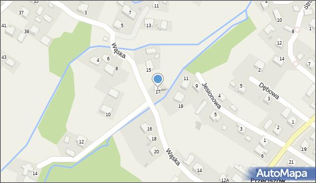Przeciszów, Wąska, 17, mapa Przeciszów
