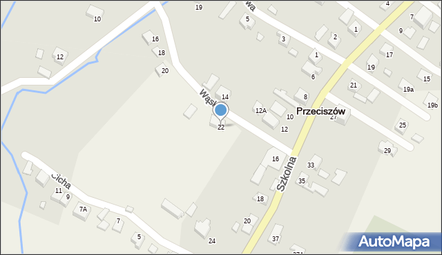 Przeciszów, Wąska, 22, mapa Przeciszów