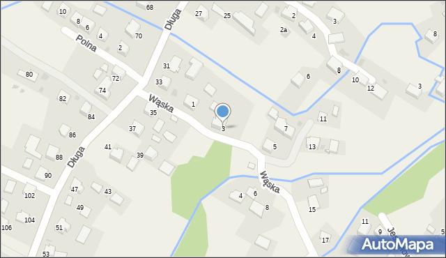 Przeciszów, Wąska, 3, mapa Przeciszów