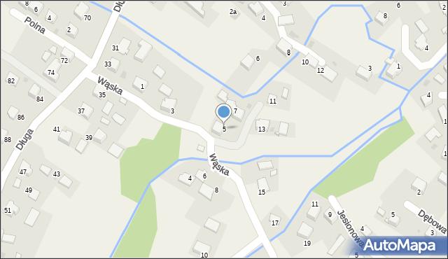 Przeciszów, Wąska, 5, mapa Przeciszów