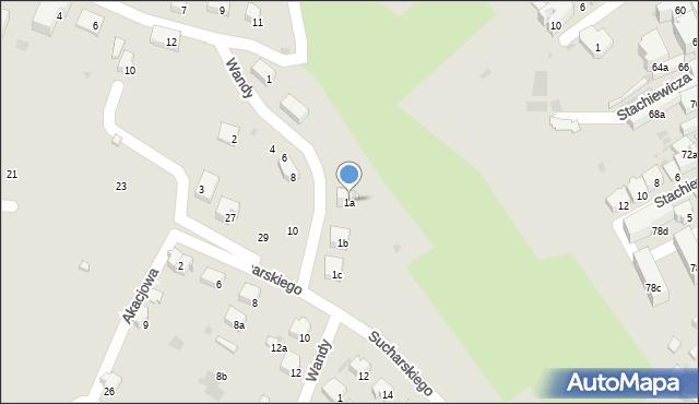 Przemyśl, Wandy, 1a, mapa Przemyśla