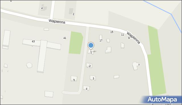 Radom, Wapienna, 1, mapa Radomia