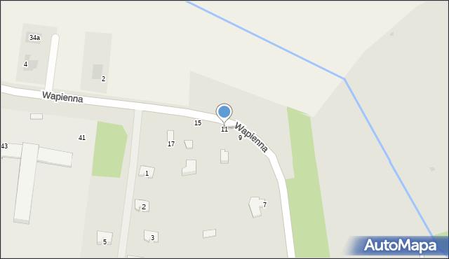 Radom, Wapienna, 11, mapa Radomia