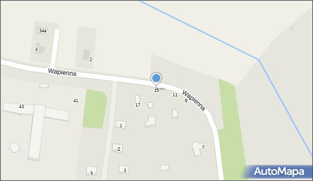 Radom, Wapienna, 15, mapa Radomia