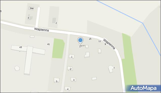 Radom, Wapienna, 17, mapa Radomia