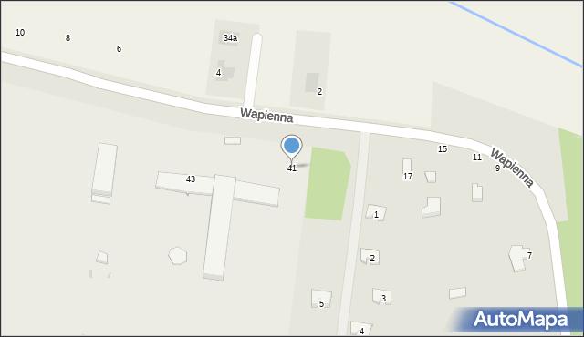 Radom, Wapienna, 41, mapa Radomia