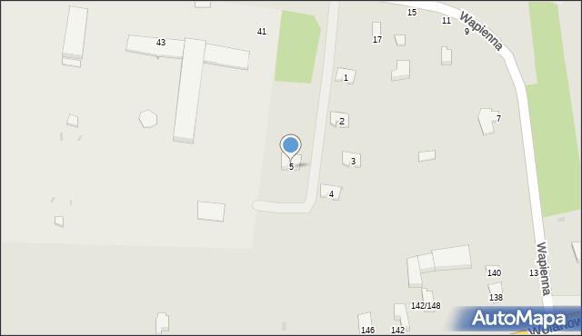 Radom, Wapienna, 5, mapa Radomia