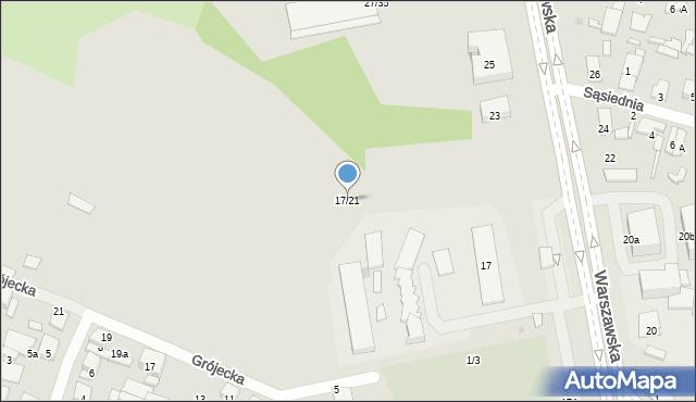 Radom, Warszawska, 17/21, mapa Radomia