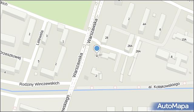 Radom, Warszawska, 4, mapa Radomia