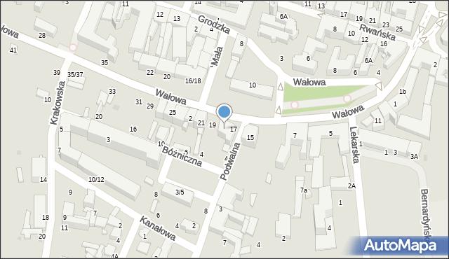 Radom, Wałowa, 17A, mapa Radomia
