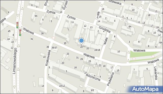 Radom, Wałowa, 22, mapa Radomia