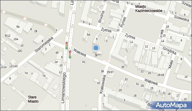Radom, Wałowa, 28, mapa Radomia