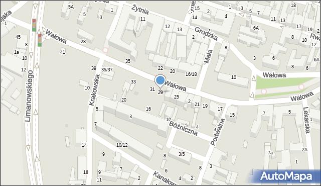 Radom, Wałowa, 29, mapa Radomia