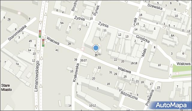 Radom, Wałowa, 35, mapa Radomia