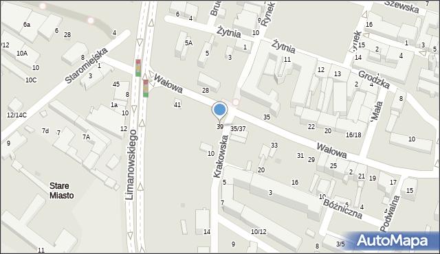 Radom, Wałowa, 39, mapa Radomia