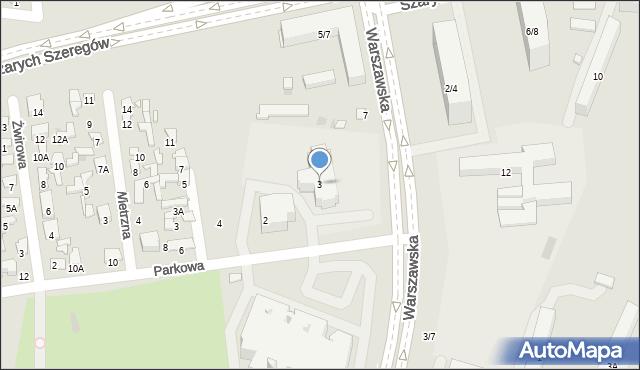 Radom, Warszawska, 3, mapa Radomia