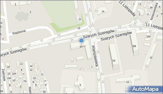 Radom, Warszawska, 5/7, mapa Radomia