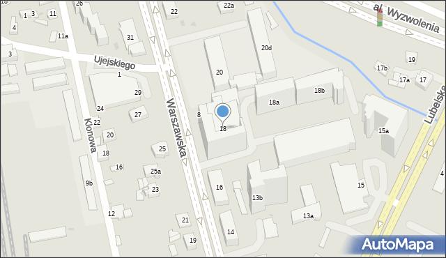 Rzeszów, Warszawska, 18, mapa Rzeszów