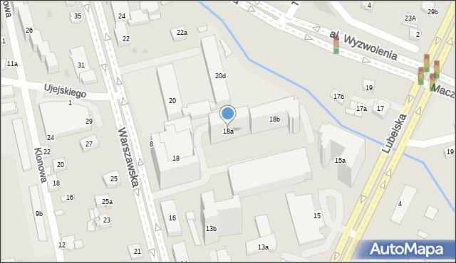 Rzeszów, Warszawska, 18a, mapa Rzeszów