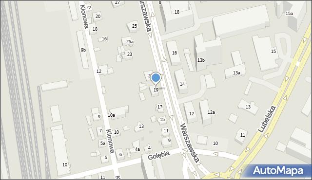 Rzeszów, Warszawska, 19, mapa Rzeszów
