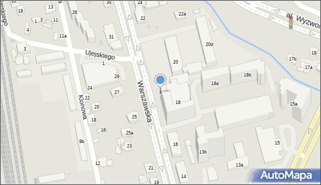 Rzeszów, Warszawska, 8, mapa Rzeszów