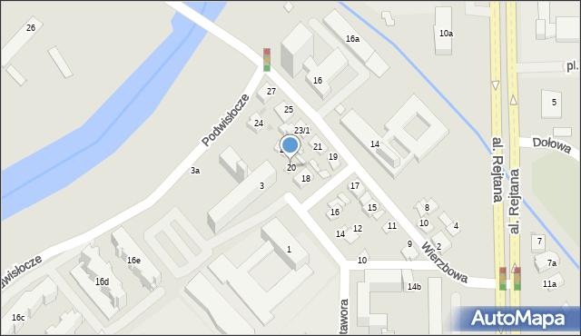 Rzeszów, Warzywna, 20, mapa Rzeszów