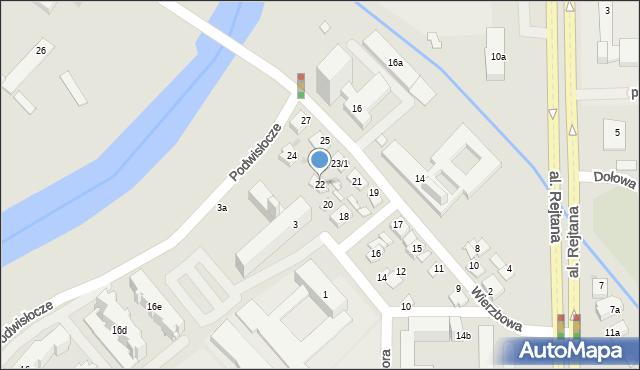 Rzeszów, Warzywna, 22, mapa Rzeszów