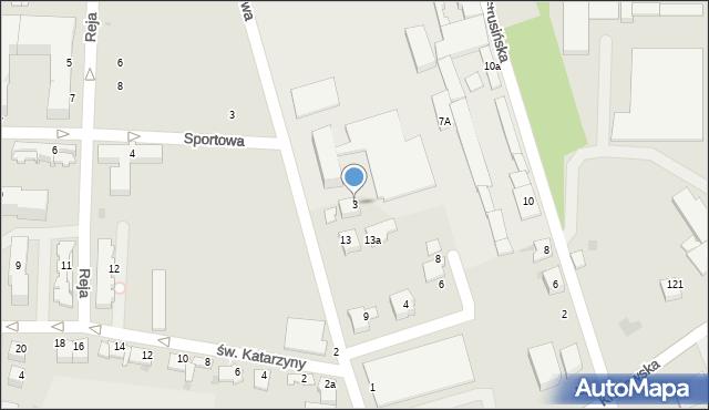 Tarnów, Warsztatowa, 3, mapa Tarnów