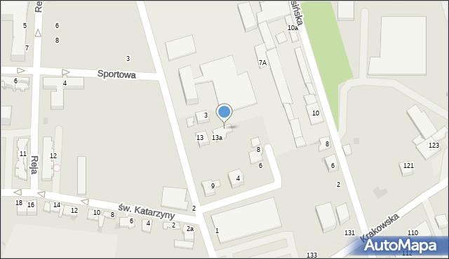 Tarnów, Warsztatowa, 5, mapa Tarnów