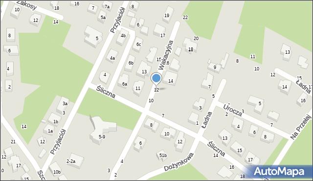 Toruń, Wakacyjna, 12, mapa Torunia