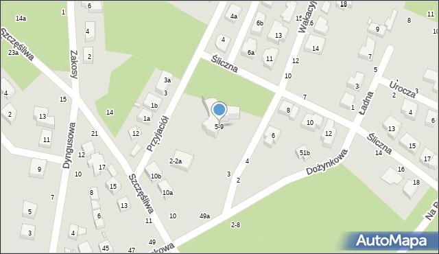 Toruń, Wakacyjna, 9, mapa Torunia