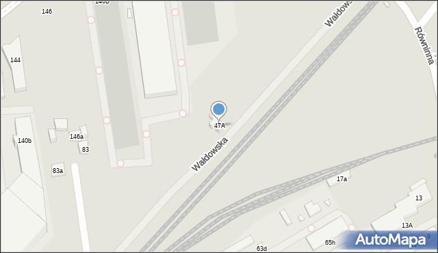 Toruń, Wałdowska, 47A, mapa Torunia