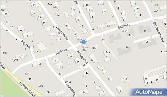 Toruń, Warzywna, 16a, mapa Torunia