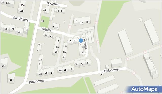 Toruń, Wąska, 12, mapa Torunia