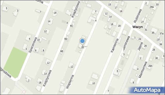 Wacyn, Wapienna, 10, mapa Wacyn