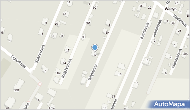 Wacyn, Wapienna, 12, mapa Wacyn