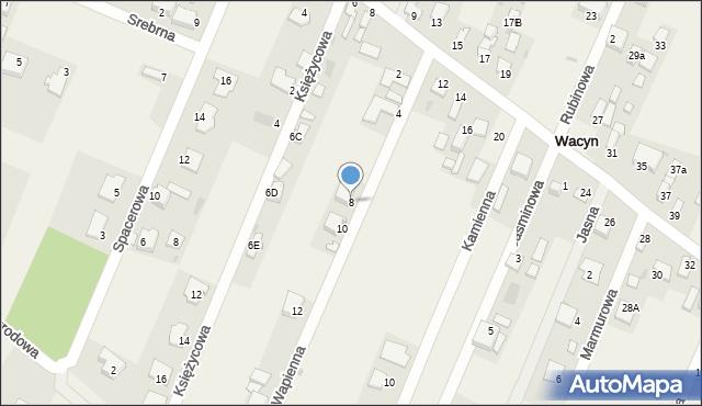 Wacyn, Wapienna, 8, mapa Wacyn