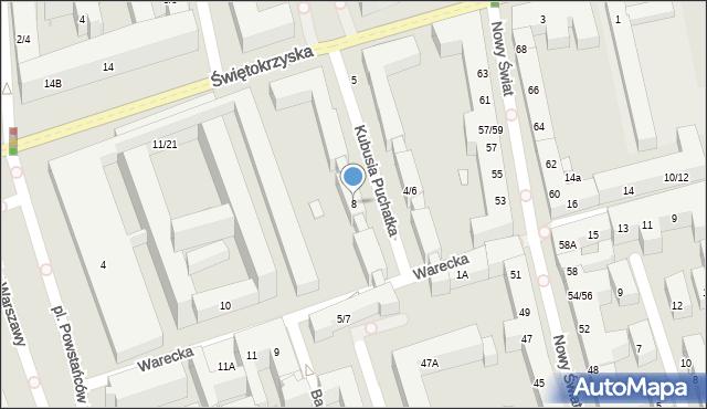Warszawa, Warecka, 8, mapa Warszawy