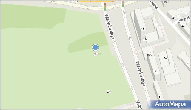 Warszawa, Waryńskiego Ludwika, 1B, mapa Warszawy