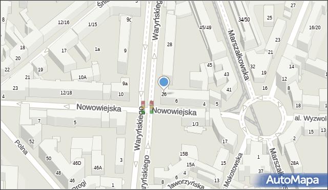 Warszawa, Waryńskiego Ludwika, 26, mapa Warszawy