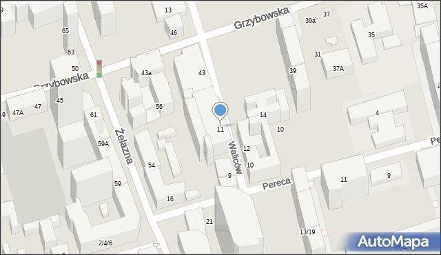 Warszawa, Waliców, 11, mapa Warszawy