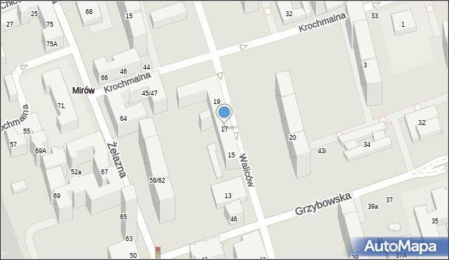 Warszawa, Waliców, 17, mapa Warszawy